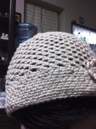 手編み帽子5