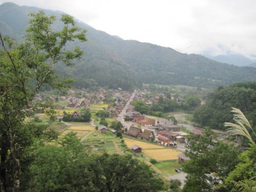 白川郷展望台からの眺め