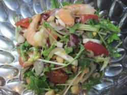 エビと豆のサラダ