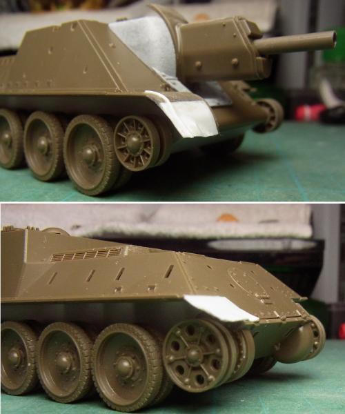 SU-122・フェンダー破損