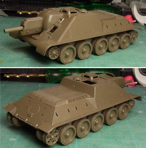 SU-122・仮組み