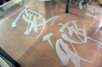 ガラステーブルトップ彫刻