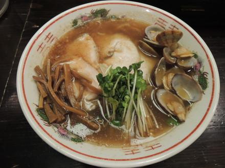 貝汁柚香らーめん肉ソバ(細麺)(780円)