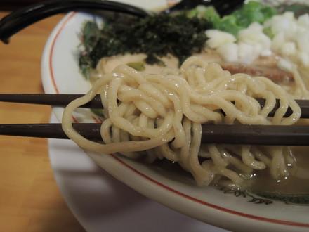 鶏とんこつラーメンの麺(ちぢれ麺)