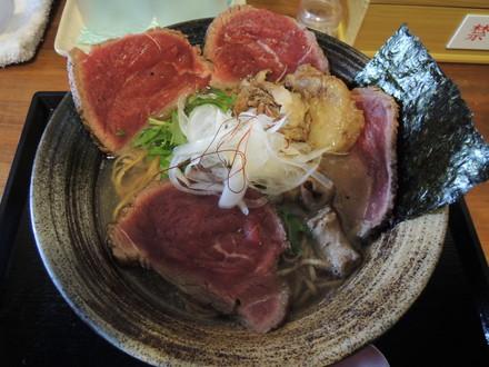 牛と煮干しの生塩そば(850円)