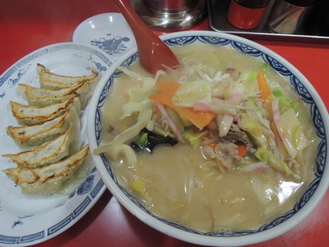 サービスセットメニュー「チャンポン+餃子」(670円)