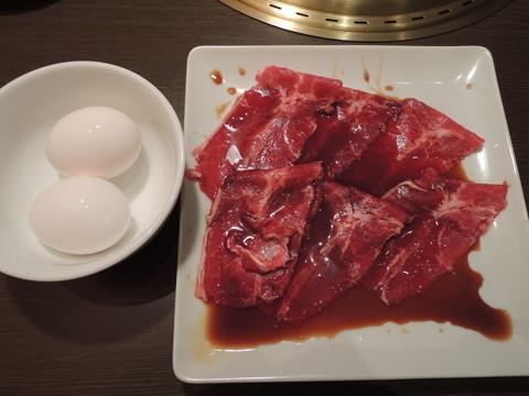 上カルビ焼きすき(玉子付)