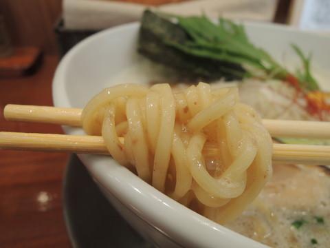 鶏豚だしらぁ麺(中太麺)の麺