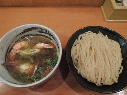 脚赤海老塩つけ麺(1200円)