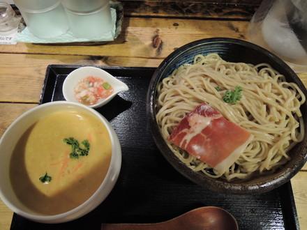 冷製ポタージュのつけ麺(900円)