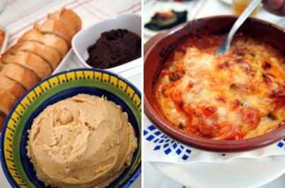 ひよこ豆のフムス&海老のギュヴェッチ