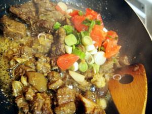 山羊肉の炒め