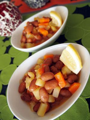 うずら豆のトマト煮