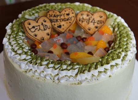 まっちゃシフォンケーキ