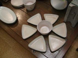詩季・三角皿