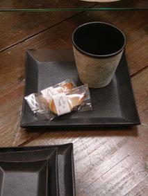 詩季・角皿とカップ