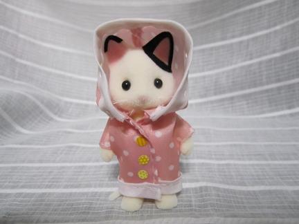 レインコート猫