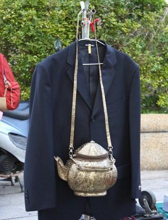 フリマのポットバッグ