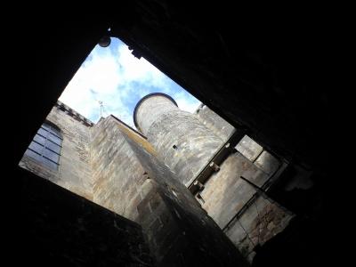 モンサンミシェル近づく尖塔