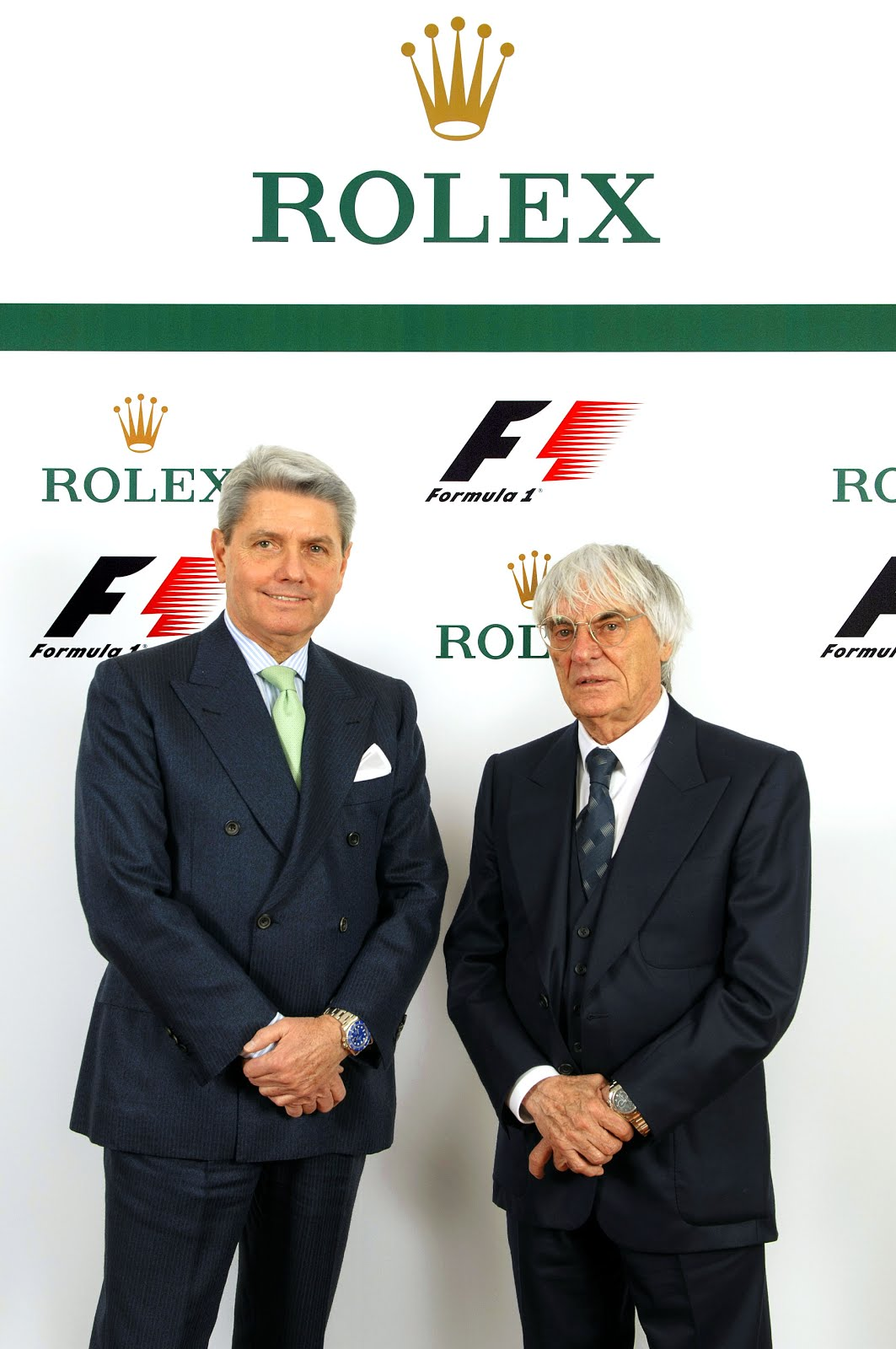 Mr-Gian-Riccardo-Marini,-Chief-Executive-Officer-of-Rolex-SA-;-Mr-Bernie-Ecclestone,-CEO-of-the-Formula-One-group