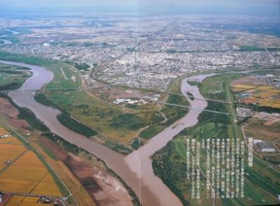 石狩川・空知川の合流