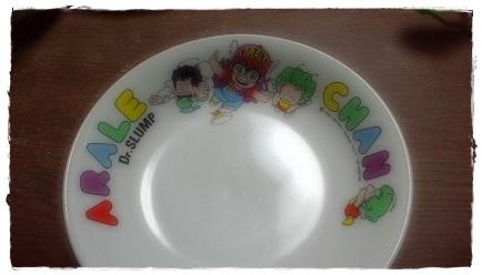 アラレちゃんの皿