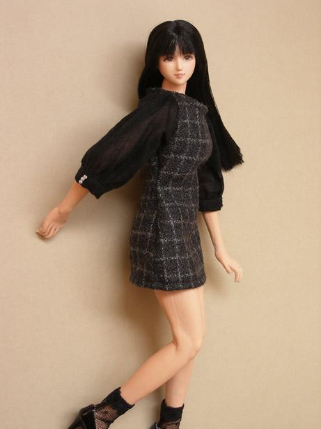 Black checked dress6