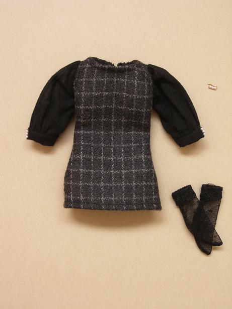 Black checked dress9