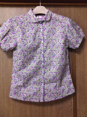 花柄紫ブラウス-1