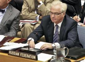 2012-10-25_Russia_ロイター記者の排除求める ロシア大使、安保理非公開協議報道に01_国連安全保障理事会に出席したロシアのチュルキン国連大使=8月30日(AP)