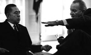 佐藤首相とジョンソン大統領