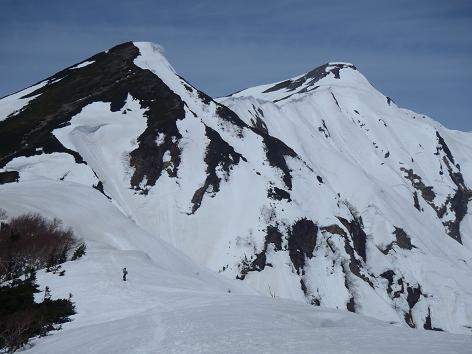冷池手前から南峰と北峰