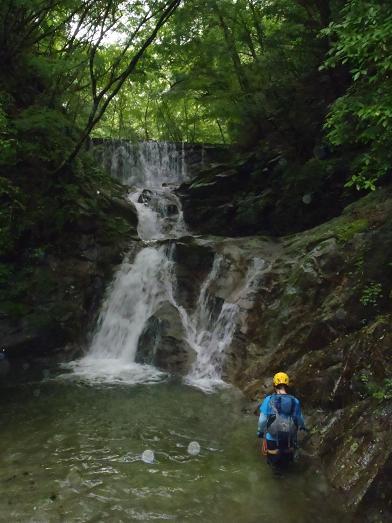 2つの滝と堰堤