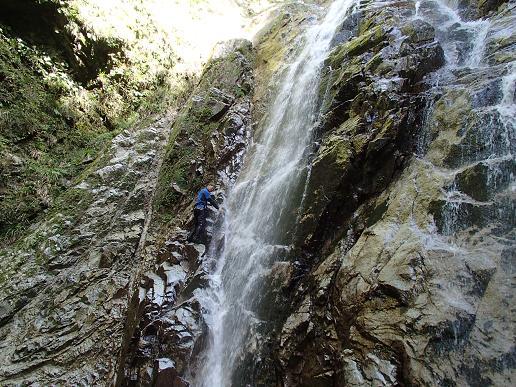 まるで滝登攀