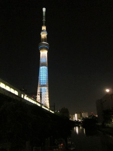 東京スカイツリー・ライトアップ2〔フリー写真〕