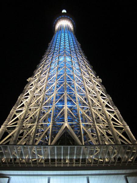 東京スカイツリー・ライトアップ5〔フリー写真〕