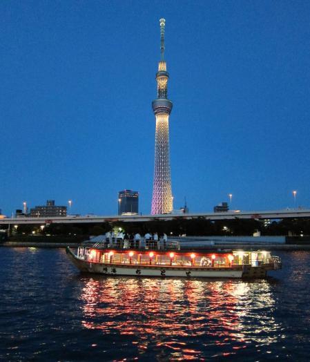 東京スカイツリー・ライトアップ6〔フリー写真〕
