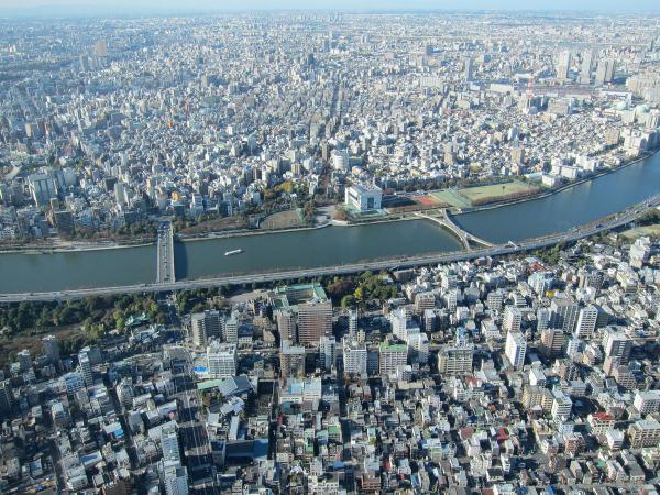 東京スカイツリー・展望デッキから見た風景1〔フリー写真〕
