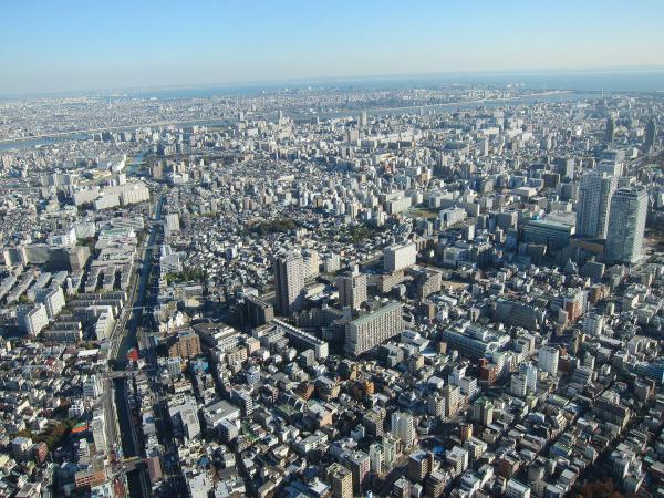 東京スカイツリー・展望デッキから見た風景2〔フリー写真〕