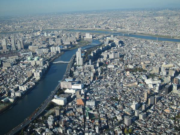 東京スカイツリー・展望回廊から見た風景1〔フリー写真〕