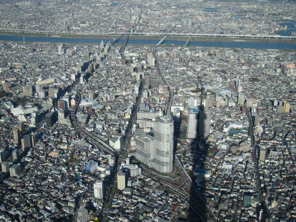 東京スカイツリー・展望回廊から見た風景2〔フリー写真〕