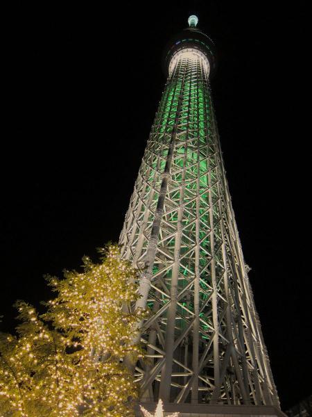 東京スカイツリー・ライトアップ14〔フリー写真〕