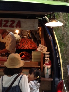 石窯のピザ屋さん