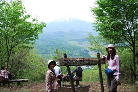 黒岳への道にある展望台