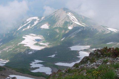 雪倉岳稜線