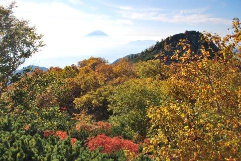 富士山と砂払岳