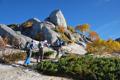 薬師岳への登り