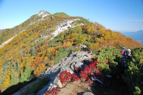 観音岳への尾根道