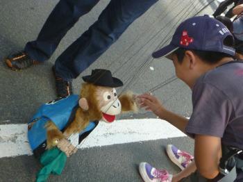動画撮影しなかったことが悔やまれるぐらいリアルだったお猿さん。
