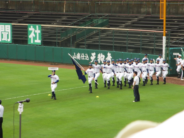 高校野球開会式 011